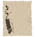 venus silhouette on old paper vector image vector image