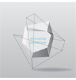 Abstract white geometric background with lines vector image vector image