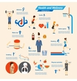 Fitness Infographics vector image vector image