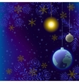 christmas background snow in space vector image