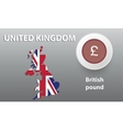 map of Great Britain the button vector image