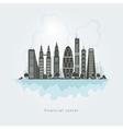 City financial center vector image