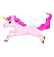 Cute unicorn cartoon running vector image
