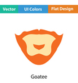 Goatee icon vector image