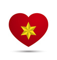 Love Heart with Six Point Star vector image