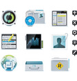 Server administration icons vector image