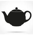 Silhouette symbol of classic teapot vector image