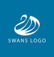 swan logo sign emblem-06 vector image