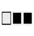 Tablet set for background app mockup vector image