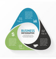 Triangle infographic diagram 3 options parts vector image