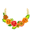 Wreath with mexican flowers vector