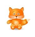fox toy icon vector image vector image