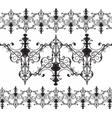 Vintage Gothic ornament pattern elements vector image