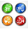 Set of color medicine circle vector