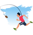 Finding motivation to work out vector image vector image