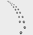 trail of cat 2 vector image