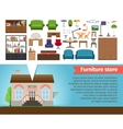 Furniture store vector image vector image
