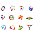 12 colorful symbols set 7 vector image