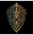Lions head Tribal pattern vector image