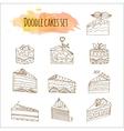cake  Set of 12 hand drawn vector image