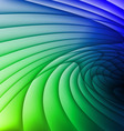 Green and blue waves vector image vector image
