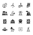 Fuel and Power Generation Icons vector image