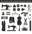 Set of tailor labels emblems and design elements vector image