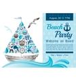 Sea summer travel banner invitation design for vector image