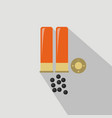 ammo from hunting gun flat and cartoon style vector image