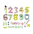 Funny Numbers Set vector image