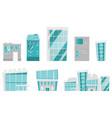 modern buildings cartoon set vector image