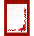 red bow with greeting card vector image