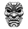 samurai warrior mask vector image