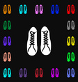 shoes icon sign Lots of colorful symbols for your vector image