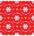Trendy Christmas seamless pattern Hand-drawn vector image