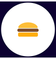 Burger computer symbol vector image