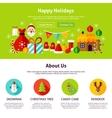 Happy Holidays Web Design vector image