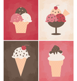 Ice cream cards vector image