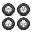 truck and car wheels with tires and disk vector image
