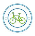 isolated bicycle round icon vector image