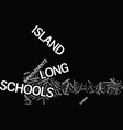 long island schools rate well on math test text vector image