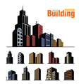 building set vector image vector image