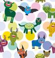 Cute cartoon Monsters Set seamless pattern on vector image