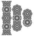 Mehndi Indian Henna tattoo long pattern design vector image