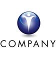 beautiful corporate emblem vector image