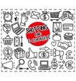 Doodle Shopping Icons vector image