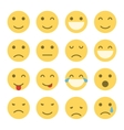 Emoji faces icons vector image