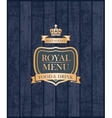 Cover royal menu vector image
