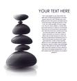 Pyramid Of Stones Design vector image