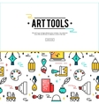 Art tools and materials for painting vector image